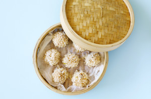 Steamed-chicken-and-rice-balls-gluten-free-and-healthy