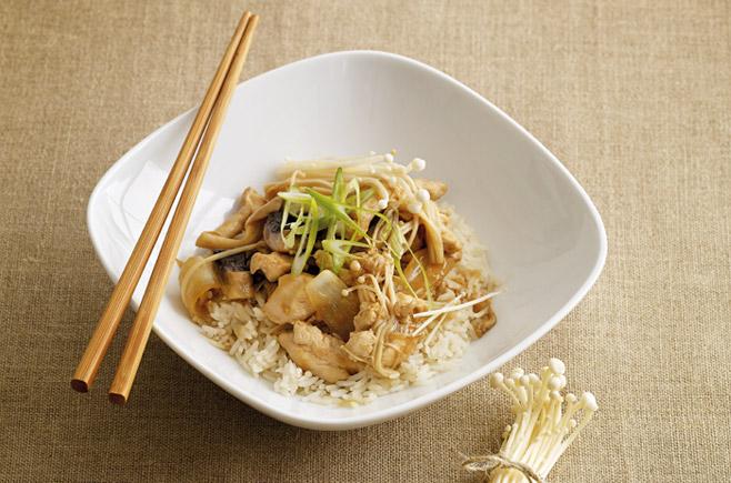 Gluten-Free Chicken and Mushroom Stir-fry