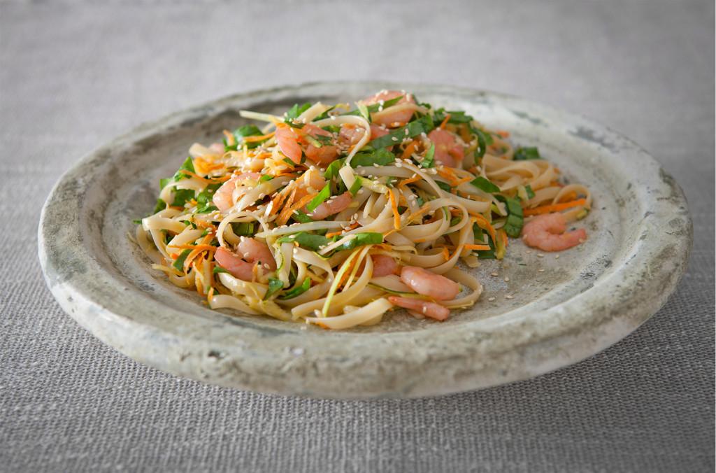 Easy-Gluten-Free-Recipe-For-Prawn-Fettucine-With-Spinach