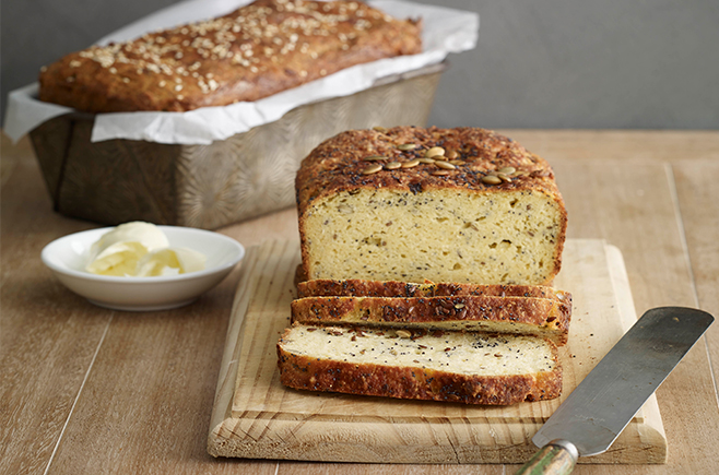 Gluten-Free Bread with Four Seeds