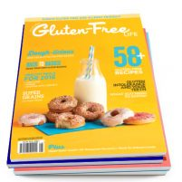 Issue 8 of Australian Gluten-Free Life magazine with doughnuts on the cover.