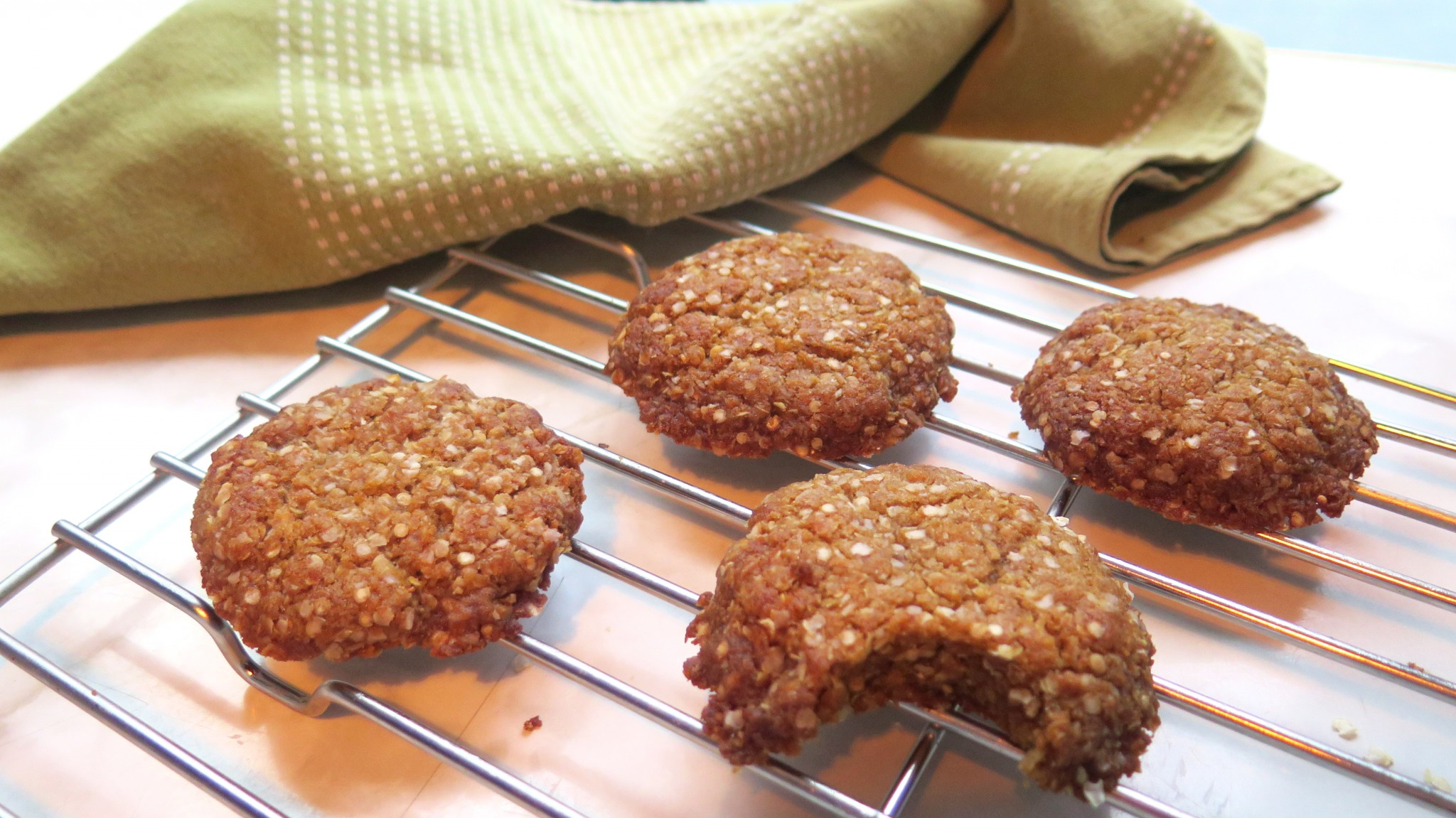 ANZAC biscuits made with quinoa and teff.