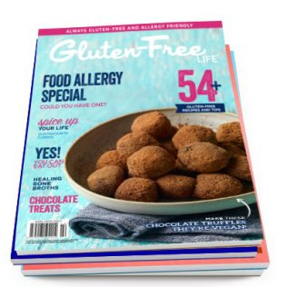 Issue-13-of-Australian-Gluten-Free-Life-Magazine-is-issue-13. Delicious-vegan-and-gluten-free-chocolate-truffles-pictured.