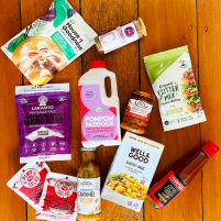 Mystery box of gluten-free and vegan foods