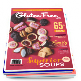 Issue 24 of Australian Gluten-Free Life magazine featuring gluten-free soups, gluten- and dairy-free biscuits and cookies, expert advice and more.