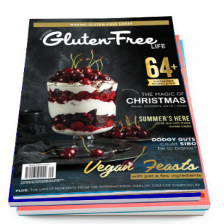 Gluten-free-magazine-cover-with-black-forest-trifle-with-cherries
