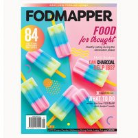 Cover of FODMAPPER magazine Issue 7 featuring rainbow unicorn popsicles.